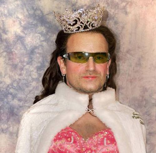 Celebrity Funny Pictures Is it Bono or Beauty Queen ?