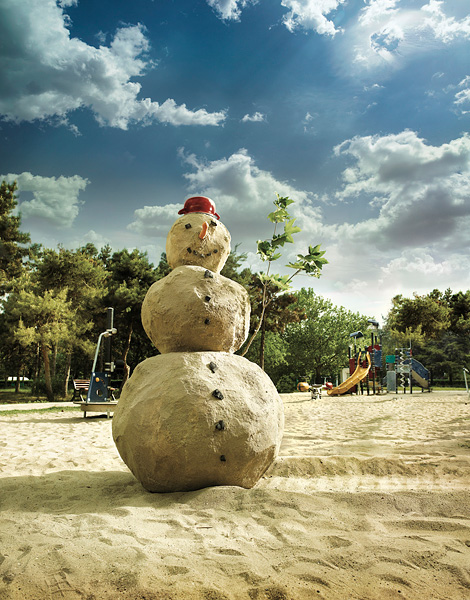 Clean Funny Pictures Miami's snowman
