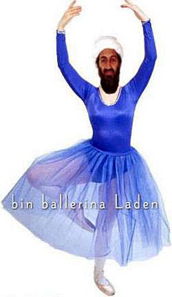 Political Funny Pictures bin ballerina Laden