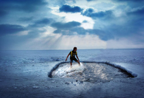 Sport Funny Pictures Surfing on the Winter Olympics