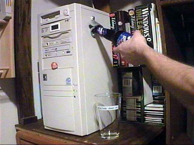 Computer Funny Pictures Plug and Drink Device