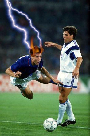 Sport Funny Pictures The magic soccer