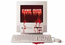 Computer Funny Pictures Game over