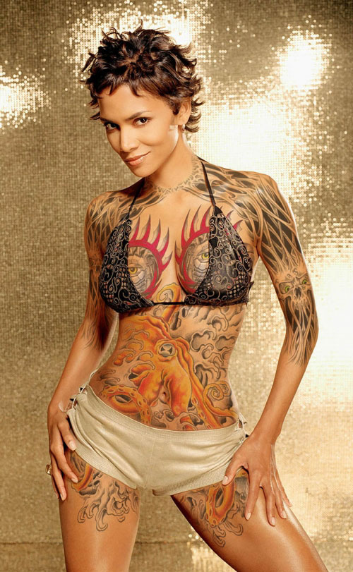 Halle Berry Tattoo