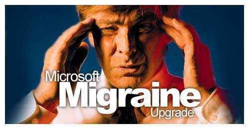 Computer Funny Pictures Microsoft Migraine upgrade