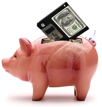 Computer Funny Pictures The Piggy bank for E-commerce.