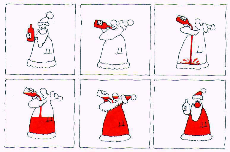 Cartoon Funny Pictures Why Santa is red? Cool!