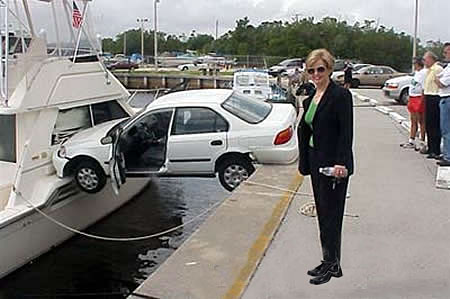 Car Funny Pictures Parking on the board