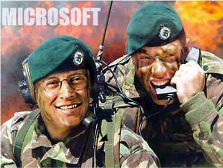 Computer Funny Pictures Microsoft Soldiers