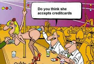 Cartoon Funny Pictures Do you think she accepts credit cards?